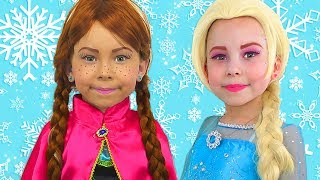 Download Alice Pretend Princess Frozen Elsa And Anna The Best videos of 2018 by Kids smile tv Video