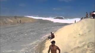Download ola gigante por causa de terremoto en ecuador 2016 en brasil maremoto Video