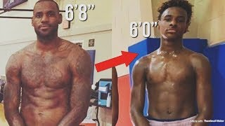 Download Bronny James INSANE! Growth As A 13 Year OLD | Soon Going To Be Taller Then LEBRON? Video