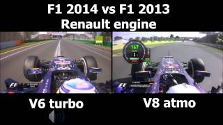 Download F1 V6 turbo vs V8 engine sound Redbull Renault Video