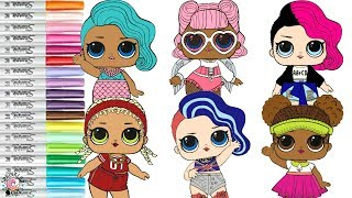 Lol Surprise Dolls Coloring Book Page Lil Sisters Lil Goo Goo Lil