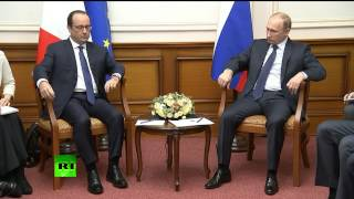 Download Владимир Путин и Франсуа Олланд провели встречу во Внуково Video