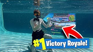 Download I Won a Game of FORTNITE UNDER WATER!! **NOT CLICKBAIT** Video