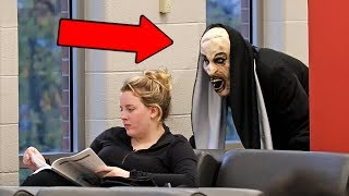 Download ″THE NUN″ Scare Prank at School! Video