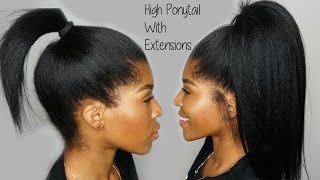 Download High Ponytail using Clip ins Ft. KnappyHair Extensions Video