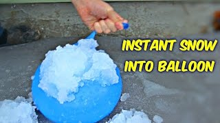 Download What Happens if you put Instant Snow into Balloon Video
