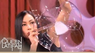 Download Bubble Artist Melody Yang Blows Your Mind With Her Amazing Artistry on The Queen Latifah Show Video