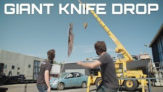 Download DROPPING A GIANT KNIFE ON A CAR (Behind The Scenes) Video