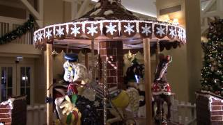 Download Disney's Yacht and Beach Club Resorts Gingerbread Carousel Display 2016, Walt Disney World Video