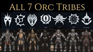 Download Middle Earth: Shadow Of War - All 7 Orc Tribes Gameplay Trailers ( Base Game Tribes ) Video