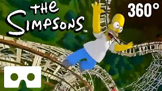Download The Simpsons 360 video VR Box Roller Coster POV Ride Universal Studios VRChat Video