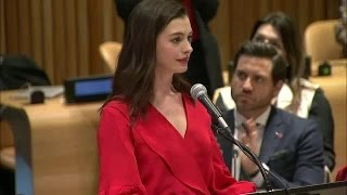 Download Anne Hathaway on International Women's Day Video