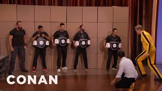 Download Steven Ho Teaches Conan Bruce Lee's Power Side Kick - CONAN on TBS Video