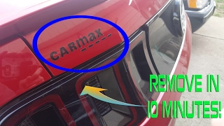 Download How To Remove Sticker/Decals (CARMAX Sticker) in Minutes! Video