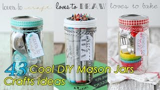 Download 43 DIY Mason Jars Crafts Ideas Video