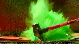 Download Exploding Spray Paint at 2500fps - The Slow Mo Guys Video
