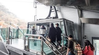 Download The journey on the Namsan Cable Car to N Seoul Tower in Seoul, South Korea Video