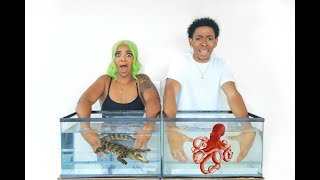 Download WHAT'S IN THE BOX CHALLENGE - UNDERWATER EDITION *LIVE ANIMALS* Video
