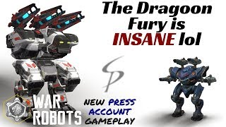 Download War Robots - The Dragoon Fury is INSANE lol - 3 Press Account Rounds Video