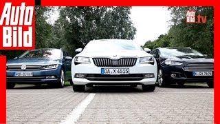 Download Skoda Superb Combi vs. VW Passat und Ford Mondeo (2015) Video