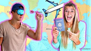 Download THROWING A DART AT A MAP & GOING WHEREVER IT LANDS (Couple Challenge) Video