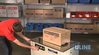 Download Uline H-2079 Semi-Automatic Poly Strapping Machine - Demonstration Video
