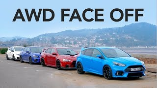 Download Ford Focus RS vs Subaru WRX STi vs Evo X FQ400 Video