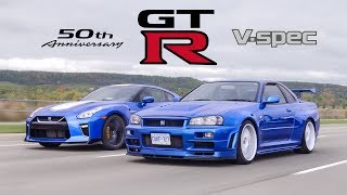 Download 2020 Nissan GTR 50th Anniversary Edition vs R34 Skyline GTR V-Spec - Meet Your Heroes Video