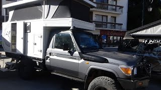 Download 2016 Toyota Land Cruiser Globe Camper 360° - Exterior and Interior - Foire 4x4 Valloire 2016 Video