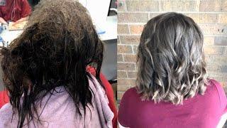 Download 16-Year-Old Battling Depression Smiles After Hairdresser Untangles Mangled Locks Video