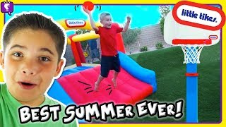 Download TOP 10 IDEAS for BEST SUMMER EVER!! Obstacle Course with Little Tikes Toys by HobbyKidsTV Video