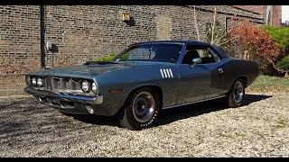 Download 1971 Plymouth 'Cuda 426 Hemi Cuda Barracuda Convertible in Gray on My Car Story with Lou Costabile Video