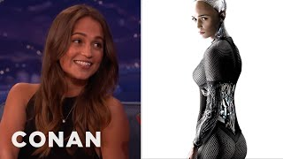 Download Alicia Vikander's Secret To Acting Like A Robot - CONAN on TBS Video