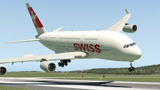 Download Swiss Airlines A380 Emergency Landing At Zurich | X-Plane 11 Video