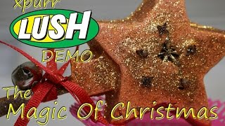 Download Lush - Magic of Christmas Bubble Bar wand DEMO + UNDERWATER view Review Video