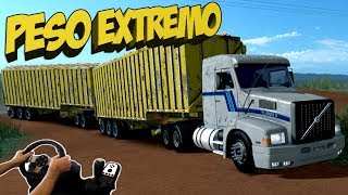 Download VOLVO EDC CANAVIEIRO - PESO EXTREMO NA ESTRADA DE TERRA Video