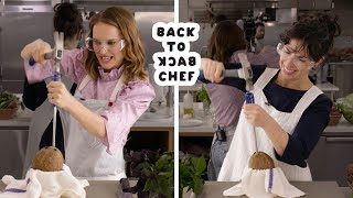 Download Natalie Portman Tries to Keep Up With a Professional Chef | Back-to-Back Chef | Bon Appétit Video