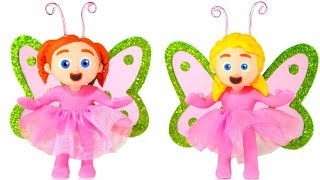 Download LITTLE PRINCESS WEARING A BUTTERFLY COSTUME ❤ SUPERHERO PLAY DOH CARTOONS FOR KIDS Video