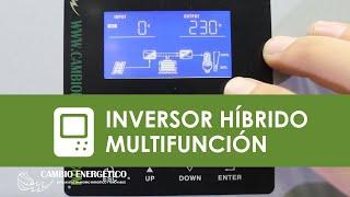 Download Inversor híbrido multifunción con cargador y regulador solar Video