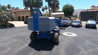 Download Transporting A Boom Lift In A Tight Country Club Video