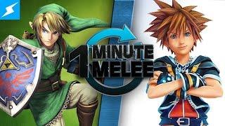Download One Minute Melee - Link Vs Sora (Zelda vs Kingdom Hearts) 60fps Video
