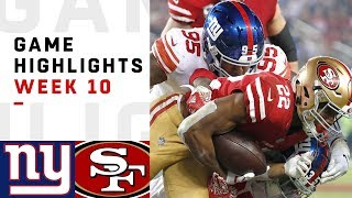Download Giants vs. 49ers Week 10 Highlights | NFL 2018 Video