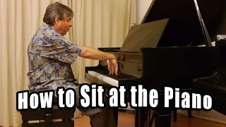 Download How to Sit at the Piano - Best Piano Sitting Position Video