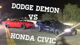 Download Dodge Demon VS 860HP Honda Civic (1320 action) Video