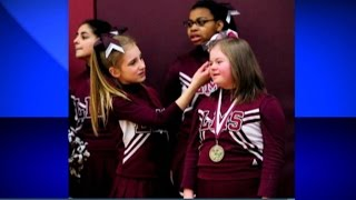 Download Basketball team protects cheerleader from bullying Video