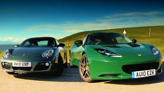 Download Porsche Cayman vs. Lotus Evora #TBT - Fifth Gear Video