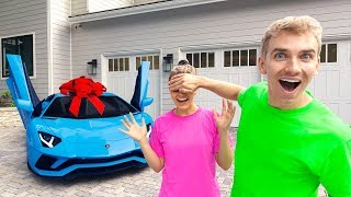 Download SURPRISING My Sister Grace Sharer With Her Dream Car!! (BRAND NEW LAMBORGHINI) Video