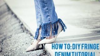 Download DIY RECONSTRUTED FRINGE DENIM | The Models Market Video