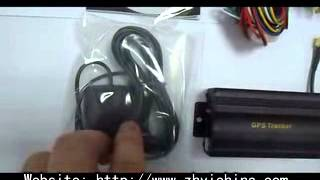 Download TK-103 GPS GPRS GSM tracker for Car Vehicle Cut off Oil/Engine from Zhyichina Video