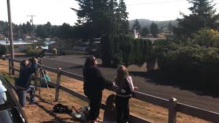 Download Total Solar Eclipse Lincoln City, OR - Getting Dark and Crowd Reaction Video